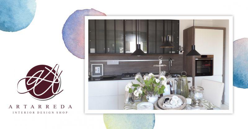 offerta cucina completa elettrodomestici - promozione cucina legno laccato bianco arterreda