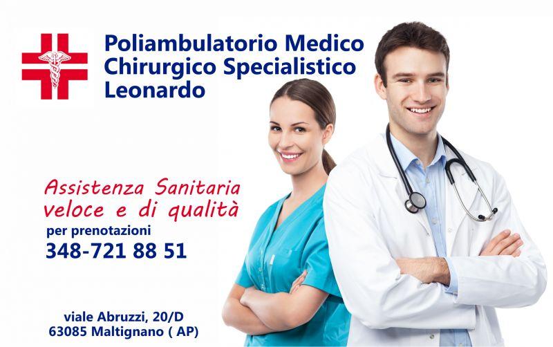 Offerta visita medica specilistica - occasione ecografia ECG Poliambulatorio Medico  Leonardo