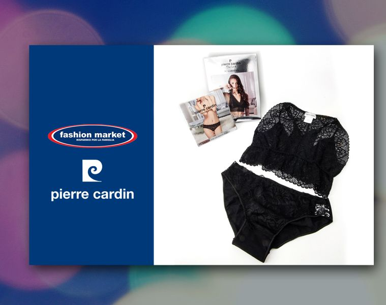 offerta completo intimo pierre cardin - occazione bralette donna pierre cardin - fashion market