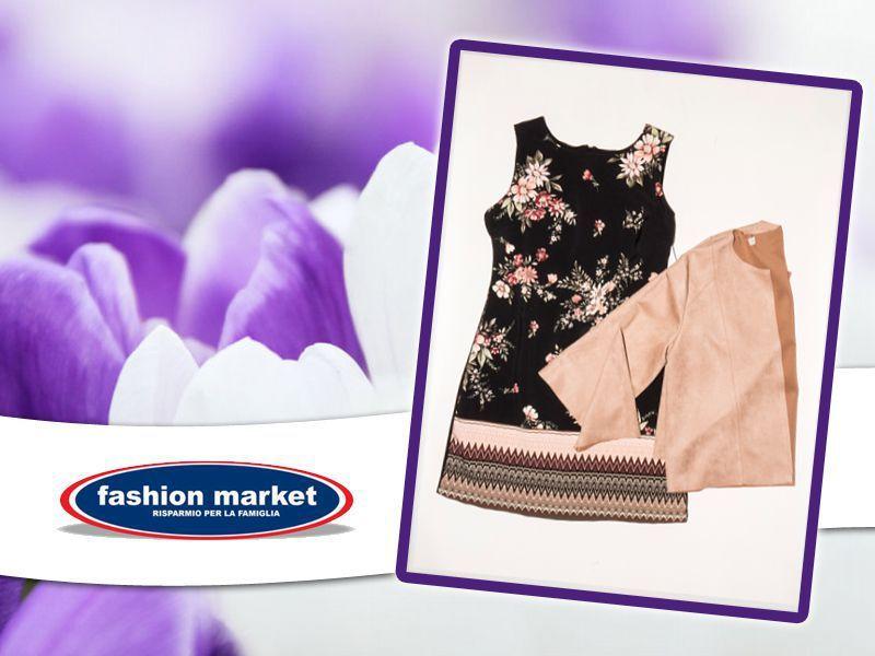 offerta Fashion Market linea donna abito a fiori - occasione collezione abiti donna primavera
