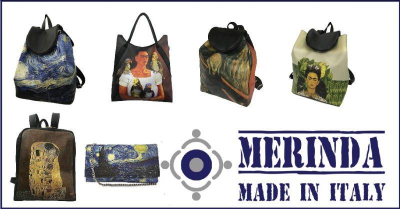 MERINDA - Aanbieding productie te koop Kunstzak vrouwen tassen gemaakt Italië designer prints