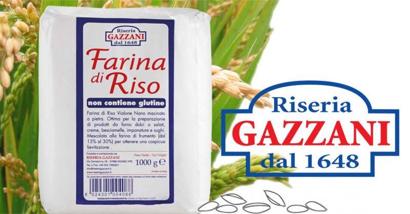 Offerta produttori italiani FARINA DI RISO - Occasione Vendita online farina di riso priva di glutine