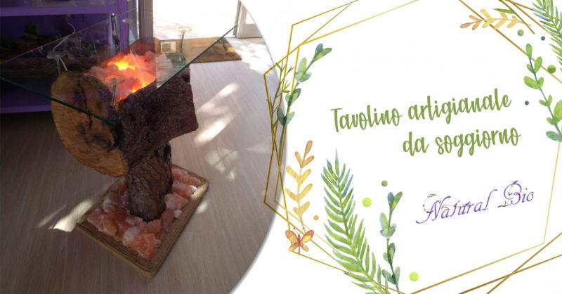 Offerta tavolino da soggiorno artigianale in legno Taranto - Natural Bio