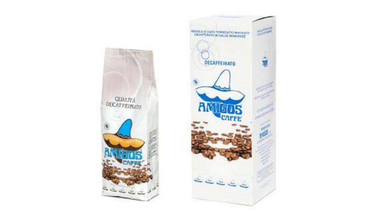 Amigos Caffè offerta vendita caffè italiano decaffeinato in grani macinato in cialde.
