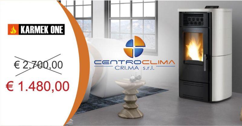CENTROCLIMA TORTOLI - OFFERTA STUFA A PELLET KARMEK ONE VALENCIA AD ARIA ACCIAIO E CERAMICA