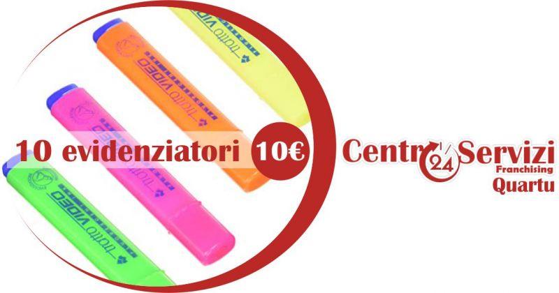 CENTRO SERVIZI 24 QUARTU - OFFERTA evidenziatori tratto video in diverse colorazioni