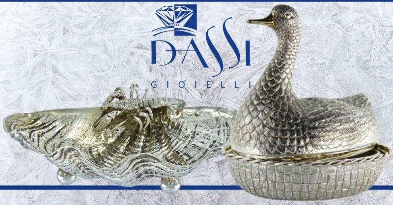 DASSI Gioielli - Offerta vendita online argenteria per casa ufficio e cerimonie made in Italy