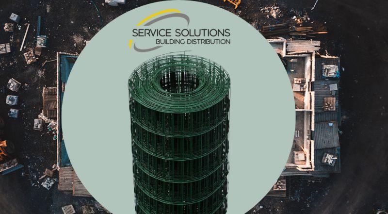 SERVICE SOLUTIONS – offerta vendita rete recinzione elettrosaldata plastificata per cantiere
